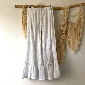 Sheer Striped Cover Up Pants